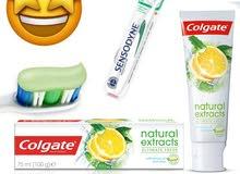معجون أسنان الحامض مع ألوفيرا لتبيض الفوري