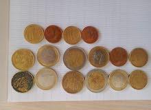 قطع نقدية عملة اورو قديمة