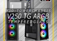 Thermaltake MID Tower v250 tg ARGB /  افضل انواع Gaming Case