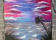 لوحه طبيعه للبيع رسم يدوي painting of nature for sale