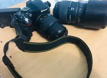 كاميرا نيكون D5200 مع 2 زوم و جنطة