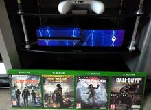 Xbox one Two controllers with Battery Packs and 4 Games