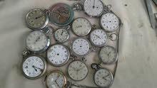 ساعات جيب اصلية منها الشغال ومنها الما شغال مع ساعة رادو اصليه