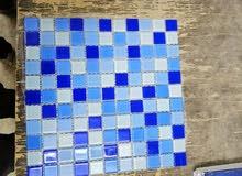 موزايك. للديكور وحمام السباحه crystal mosaic بلاط زجاج حمام السباحه والديكور سعر المتر 275جنيه