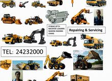 Servicing and repairing all type of heavy machinary mechanical and hydrolic