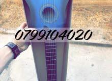 جيتار بيبي جديد بالكرتونه غير مستخدم مع كامل اغراضو مع ريشه ووتر هديه الطول 70 سم