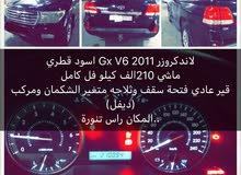 لاندكروزر Gx V6 2011 اسود قطري