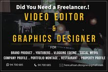 are you Searching advance Level Video Editor & Graphics Designer