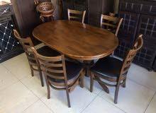 طاولة مع 6 كراسي ماليزي