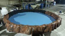 للبيع أحواض فيبر لتربية الاسماك ولحميع انواع الحيوانات