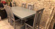 للبيع طاولة سفره من صفاة هوم  سعر الشراء 300 دك  سعر البيع 100 دك  خشب هندي متين جدا