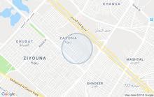 قطعة ارض زيونة 100 متر واقع حال 127،5 متر مع تشجير 150 متر
