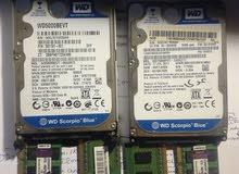 ram 8 giga labtop,شاشة لاب توب ,هارد ديسك عدد 2  500 g,والثاني  750g+ رام ديسك توب `1g