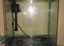 حوض سمك جديد م استخدم يوجد معاه جهاز للفلتر