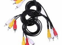 #QZO 3 RCA Male to 9 RCA Male Plug Splitter Audio TV DVD Video Adapter AV Cable