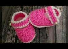 أحذية اطفال كروشيه ب اعلي جودة واقل الأسعار