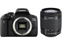 canon 750d with 18-55 lens and bag