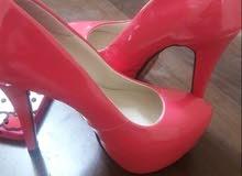 pink high heels sandals