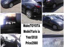 1 - 9,999 km Toyota Yaris 2017 for sale