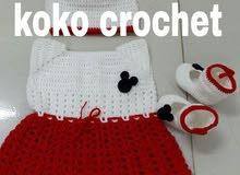 فستان كروشيه بناتي من افضل انواع الخيوط التركية