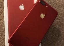 اي فون 7بلس  لاحمر 128 نظيف