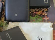 Mont Blanc genuine signature Black leather wallet 6cc