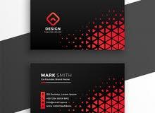 تصميم كروت شخصية و business card وتصميمات سوشيال ميديا