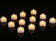 الشموع الآمنه . . السعر لعدد 8 شمع .