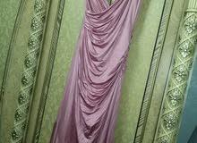 فستان سهرة مانجو لبسة واحدة لون زهر