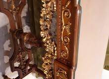 غرفة سفرة كاملة طاولة مع دنسوار مع فضية خشب زان بحالة ممتازة