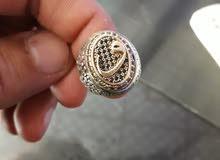 خاتم فضه مقاس صغير للإصبع الصغير