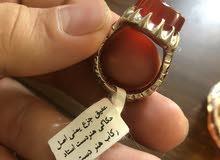عقیق جزع یمنی اصل حکاکی فن الید استاد رکاب هنر دست