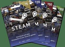 مطلوب بطاقات ستيم - Steam cards