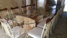 طاولة طعام فاخرة في حالة ممتازة لعدد 12 شخص - طول 3 متر وعرض 1 متر