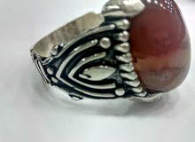 Original silver 925 Rings with aqeeq stone