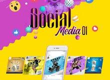 تصميمات سوشيال ميديا - انستغرام  تويتر  فيسبوك  والمزيد...