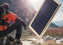 شاحن طاقة شمسية + كهرباء