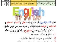 مدرس لغه إنجليزيه تأسيس ومتوسط  ..English teacher