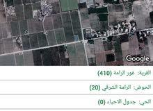اراضي سكنيه وزراعيه وسياحيه في اجمل مناطق الاغوار البحر الميت