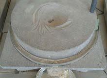جاروشة حجر اسود لطحن وجرش القمح
