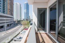دبي الجميرا الصفوح غرفة وصالة مفروشة مع بلكونة شهري شامل الفواتير