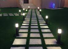 تنسيق حدائق وشلالات والتيل طبعي وصناعة 0542783401 رقم الواتس