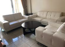 Leather Sofa set 3+2+1 in excellent condition for only AED 2,150 - negotiable
