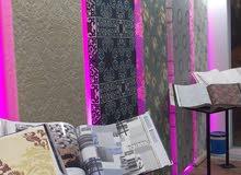 مطلوب بائع لمحل ديكورات داخلية ورق حائط دهانات