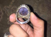خاتم عقيق يماني مشجر صياغة فارسية ثقيلة