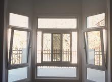 نوافذ وأبواب UPVC جميع الخامات المستخدمة ألمانية. الزجاج دبل.
