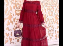 فستان غجري كلوش خامه تركية