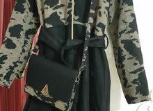 manteau  cachemir  khefif  avec capuche et son sac