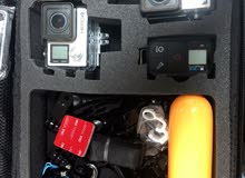 Gopro Hero 4 Black (2 pcs), GoPro Session 4 (1 pc), original remote and accessories