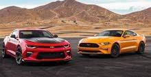 سيارات رياضية للأيجار اليومي والاسبوعي ( رقم خاص )